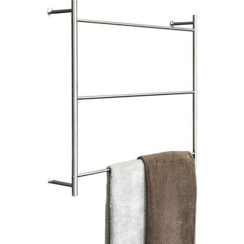 PSBA Wall Towel Rack Ladder for Bathroom Spa Towel Hanger 23.6-inch Steel Matte