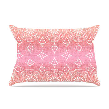 "Suzie Tremel ""Medallion Red Ombre"" Pink Pillow Sham"