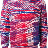 Raf Simons Sterling Ruby mixed yarn sweater