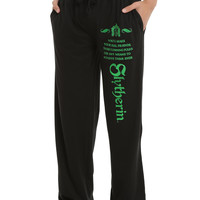 Harry Potter Slytherin Foil Men's Pajama Pants