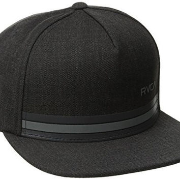 RVCA Men's Barlow Twill Snapback Hat, Charcoal Heather, One Size