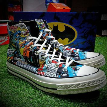 VON3TL DC Comics x Converse Chuck Taylor 1970s Batman Shoes