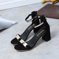 High Quality Summer Women Sandals Open Toe Flip Flops Women's Sandles Thick Heel Women Shoes Korean Style Gladiator Shoes