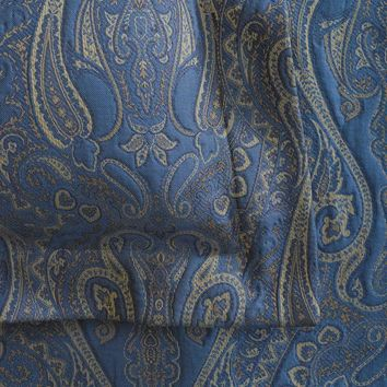 ANICHINI Tibet Matelasse Bed Linens | Blue