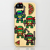 Teenage Mutant Ninja Turtles Pizza Party iPhone & iPod Case by Chobopop
