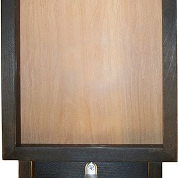"""Wooden Shadow Box Bottle Cap Holder with Bottle Opener 9""""x15"""" - Blank/No Saying"""