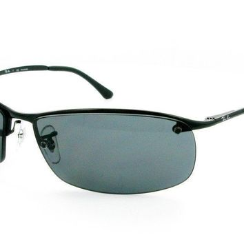 Ray Ban RB3183 002/81 63mm Black/Polarized Gray Sunglasses Bundle-2 Items