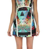 Multi Print Mini Dress