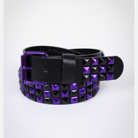 Purple Stud on Black Belt