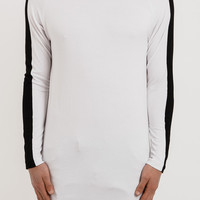 LS154 Under Armour Stripe Tee - White