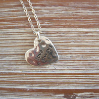 "Gold ""Love Always"" Necklace - Heart Shaped Gold ""Love Always"" Necklace - Medallion Necklace - Happy Jewelry - Sentiment Jewelry"