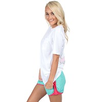Preptec Athletic Shorts in Seafoam by Lauren James - FINAL SALE