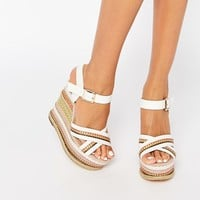 River Island Mixed Wedge Sandal at asos.com