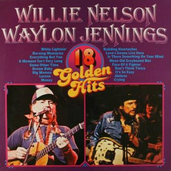 Willie Nelson & Waylon Jennings - 18 Golden Hits LP