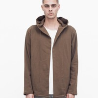 Shawl Hoodie in Tree Bark Brown