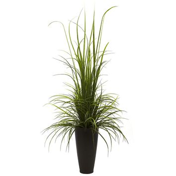 Silk Flowers -64 Inch River Grass With Planter Artificial Plant