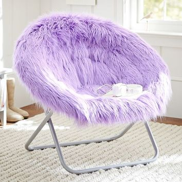 Fur-Rific Lilac Hang-A-Round Chair