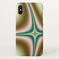 Colorful Cool Fractal iPhone X Case