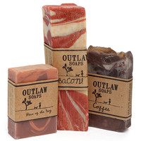 OMFG It is Bacon, Whiskey and Coffee Soap - Bacon, Whiskey & Coffee Set
