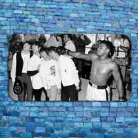 The Beatles Meet Mohammed Ali iPhone Case Cool Boxing Phone Cover John Lennon Case iPhone 4 iPhone 5 iPhone 4s iPhone 5s iPhone 5c Case