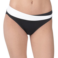 Black And White Swim Bottom - Black/White