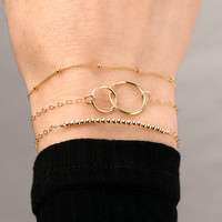Gold Bracelet Set delicate gold filled bracelet set of 3 bracelets stacking bracelet set everyday dainty bracelets sterling silver rose gold