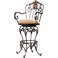 Cameo Swivel Barstool - Ambella Home Collection - Metal Swiv... - Polyvore