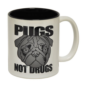 123t USA Pugs Not Drugs Funny Mug