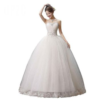 Princess Lace With Beading Wedding Dress Ball Gown Bridal Gowns