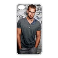 Custom Movie star Theo James Cool Photograph Apple Iphone 4 4s TPU Case Cover