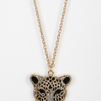 Gold Leopard Necklace - Urban Outfitters