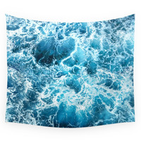 Society6 Ocean's Heart - LOVE IS. Wall Tapestry