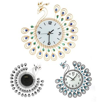 High quality Vintage Style Peacock Antique Wall Clock