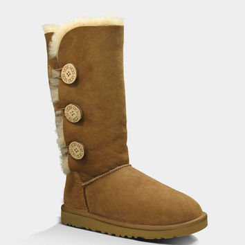 Ugg Bailey Button Triplet Womens Boots Chestnut  In Sizes