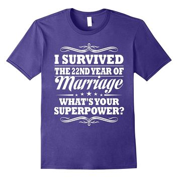 22nd Wedding Anniversary Gift Ideas For Her/ Him- I Survived