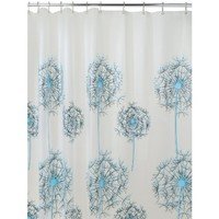 InterDesign Allium Shower Curtain, 72 x 72, Blue/Black