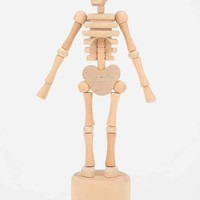 Lazy Bones Collapsible Wooden Skeleton- Light Brown One