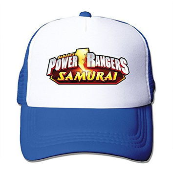 Hip-Hop Adult Unisex Power Rangers Samurai Logo 100% Nylon Mesh Caps One Size Fits Most Adjustable Baseball Cap