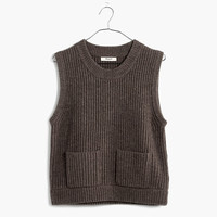 Merino Ribbed Sweater-Vest