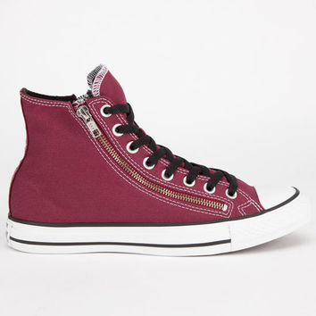 Converse Chuck Taylor Double Zip Hi Mens Shoes Burgundy  In Sizes