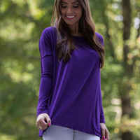 The Perfect Piko Top-Dark Purple – The Simply Dixie Boutique