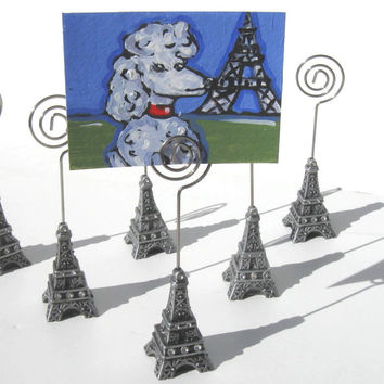 Eiffel Tower,  Placecard Holders, ACEO holders, Paris, name card holder, wedding, party favor, holiday, photograph holder