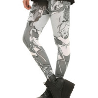 Disney Alice In Wonderland Comic Tonal Leggings