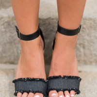 Never Leaving You Wedges, Black