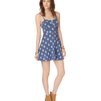 Aeropostale Womens Hamsa Fit & Flare Ladder-Back Dress - Blue,