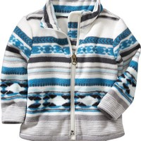 Old Navy Patterned Performance Fleece Jacket For Baby
