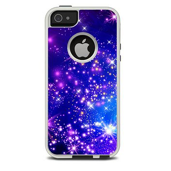The Glowing Pink & Blue Starry Orbit Skin For The iPhone 5-5s Otterbox Commuter Case