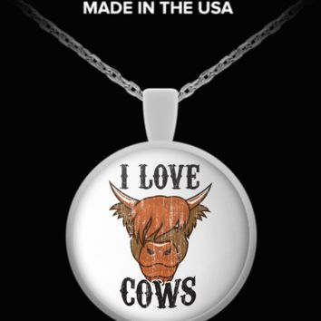 I Love Cows Necklace ilc-n