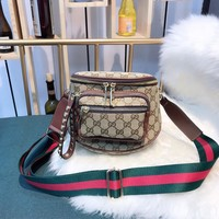 Gucci Women Leather Shoulder Bag Satchel LV Tote Bag Handbag Shopping Leather
