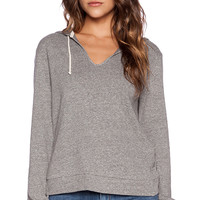 Lanston Scallop Back Hoodie in Gray